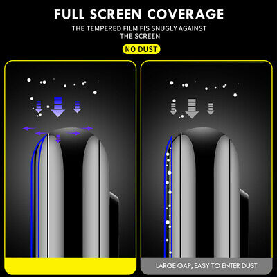 2PCS 10D Full Cover Tempered Glass Screen Protector For iPhone X XS Max XR 11 8+ 3