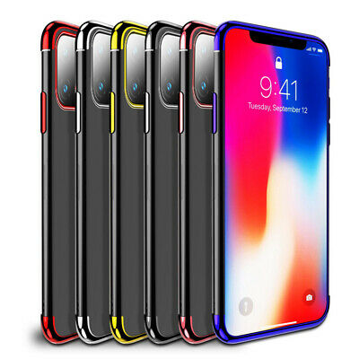For Apple iPhone 11/ 11 Pro Max XR Plating Soft Silicone Hybrid Clear Case Cover 9