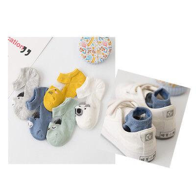 5 Pairs NewBorn Baby Boy Girl Cartoon Cotton Socks Infant Toddler Kids Cute Sock 8
