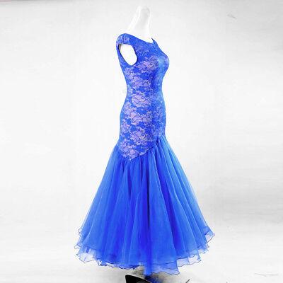 Latin Ballroom Competition Dance Dress Modern Waltz Tango Standard Dress#YG010
