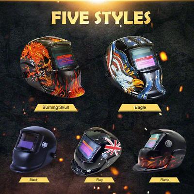 Pro Solar Auto Darkening Welding Helmet Arc Tig Skull Mask 2