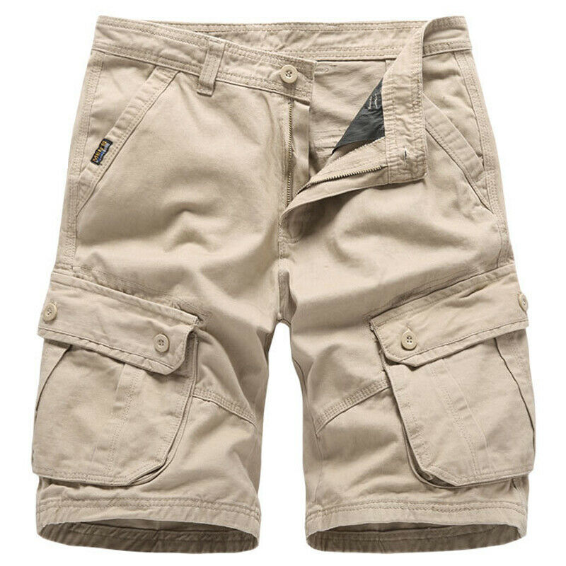 Mens Cargo Combat Work Shorts Trousers Army Military Hiking Camping Half Pants 7
