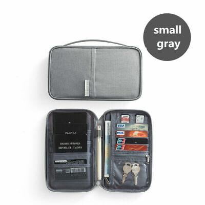 Family Passport Holder Travel Wallet Ticket Document Organiser Bag Multi-purpose 11