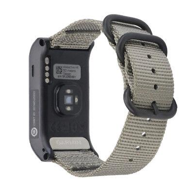 Replacement Nylon Canvas Watchband Wrist Band Strap For Garmin VIVOACTIVE HR UK 8