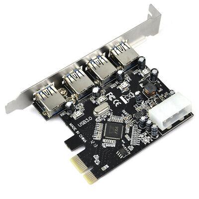 PCI-E PCI Express to 4 Port USB3.0 USB 3.0 Hub Controller Card Adapter 5