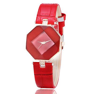 New Fashion Women 's Leather Band Analog Quartz Diamond Wrist Watch Watches 11