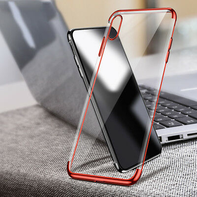 For iPhone XS Max XR X Case Clear Transparent Bumper Shockproof Protective Cover 6