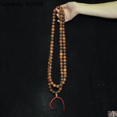 "36"" China Buddhism carved Buddha Bead Prayer beads Amulet Necklace 5"