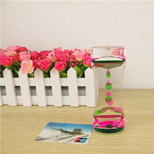 Liquid Floating Timer Desktop Motion Visual Clock Timer Hourglass Oil Drop Toy.