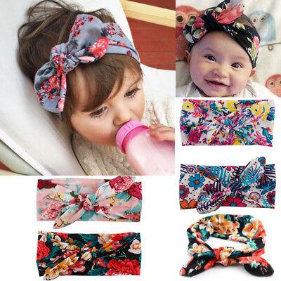 Baby Toddler Girls Kids Bunny Rabbit Bow Knot Turban Headband Hair Band Headwrap 2