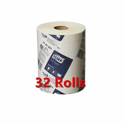 Tork Paper Hand Towels Towel Roll Bulk Industrial Kitchen White 90m 1Ply 8/16/32