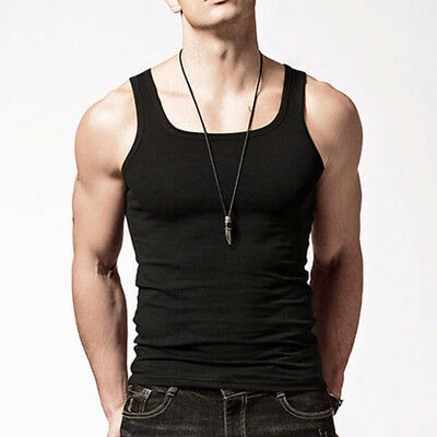 3-6 Packs Mens 100% Cotton Tank Top Wife A-Shirt Beater Undershirt Ribbed Muscle