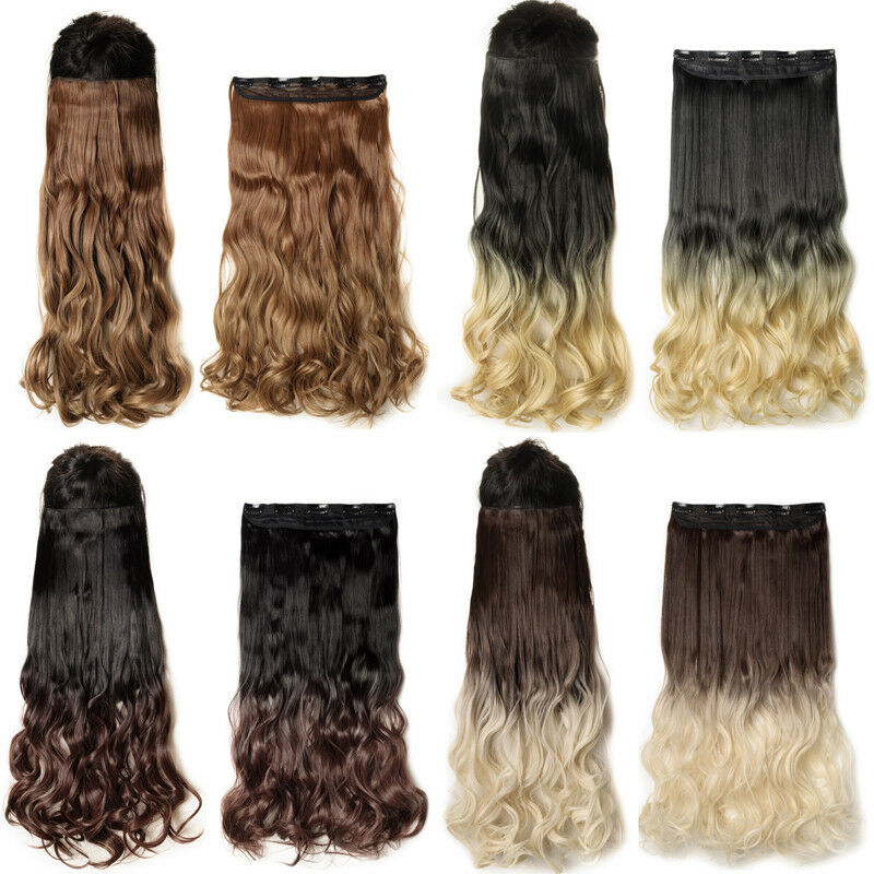17 24 26 30 Inch Long Straight Wavy As Remy Human Hair Piece Hair