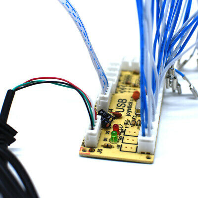 2 Players Arcade Buttons and Joystick HAPP Kit Controller USB Encoder MAME DIY 9