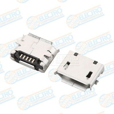 Conector Micro USB Tipo B Hembra soldar SMD standard - Lote 10 unidades - Arduin 6