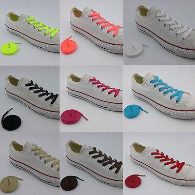 1 Paire Plat Mode Chaussures En Toile Athlétique Unisexe Lacets De Chaussures