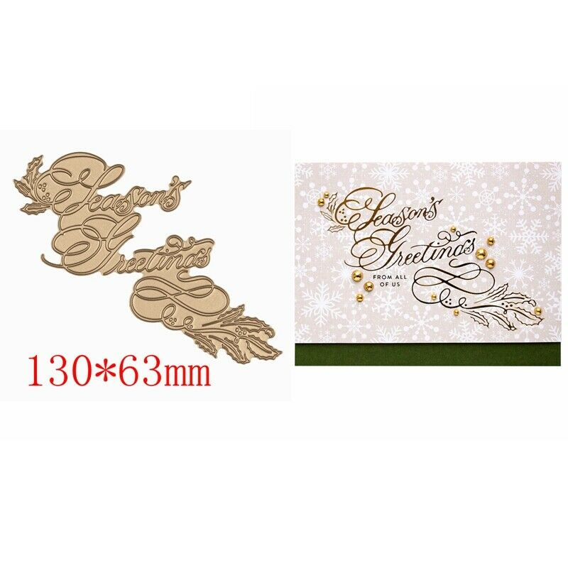 Greetings Wishes Word Hot Foil Plates Dies Stencil Embossing Craft Scrapbooking 4