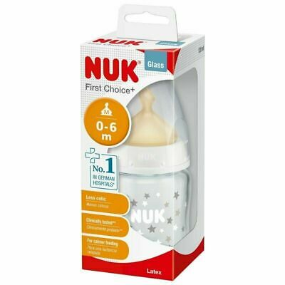 Nuk First Choice Glass Bottle with Latex Teat 240ml/120ml Design May Vary 2