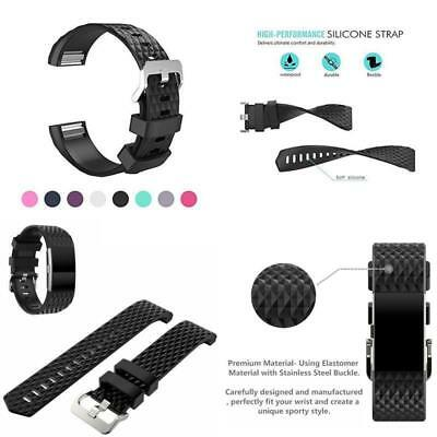 10 Pack Replacement Wristband For Fitbit Charge 2 Band Silicone Fitness Sport 9