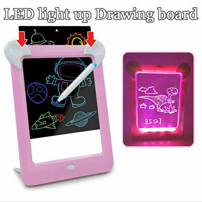 MagicToy Pad Light Up Drawing Pad with Neon Pen Creative Glow Art Light Effect 4