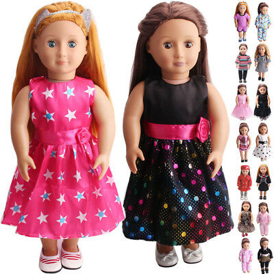 US Doll Clothes Dress Outfits Pajames For 18 inch American Girl Our Generation 3