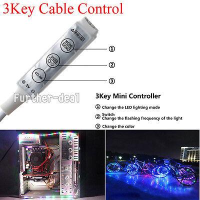 5V 5050 60SMD/M RGB LED Strip Light Bar TV Back Lighting Kit+USB Remote Control 4