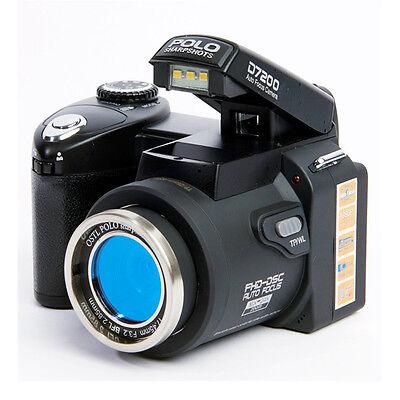 Appareil photo numérique POLO D7200 33MP 1080P +3 objectif large +projecteur LED 8