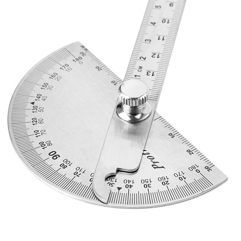 15cm 180 Degree Adjustable Protractor multifunction stainless steel angle rulerF 5