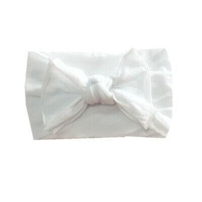 Newborn Baby Rabbit Headband Cotton Elastic Bowknot Hairband Girls Headwrap Band 12