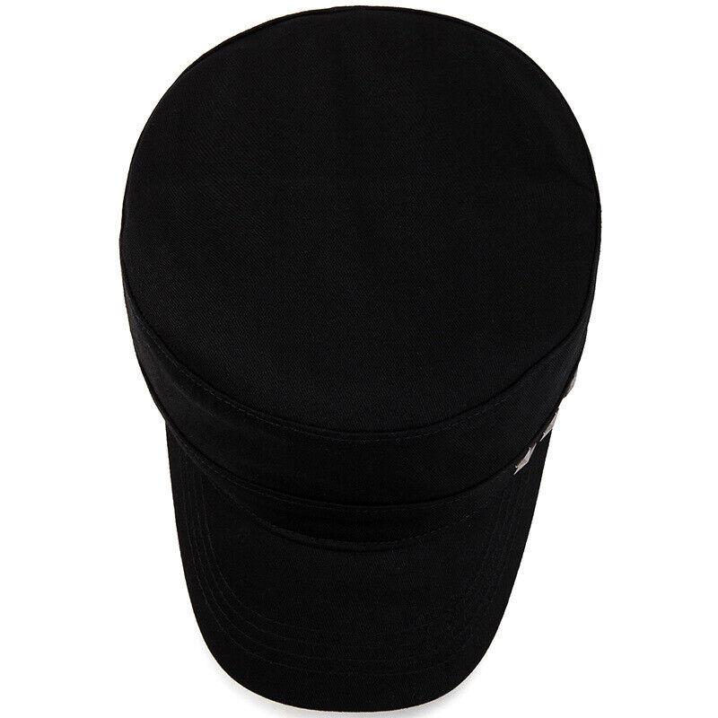 Classic Mens Women Army Military Cadet Combat Cap Sun Adjustable Sport Plain Hat 7