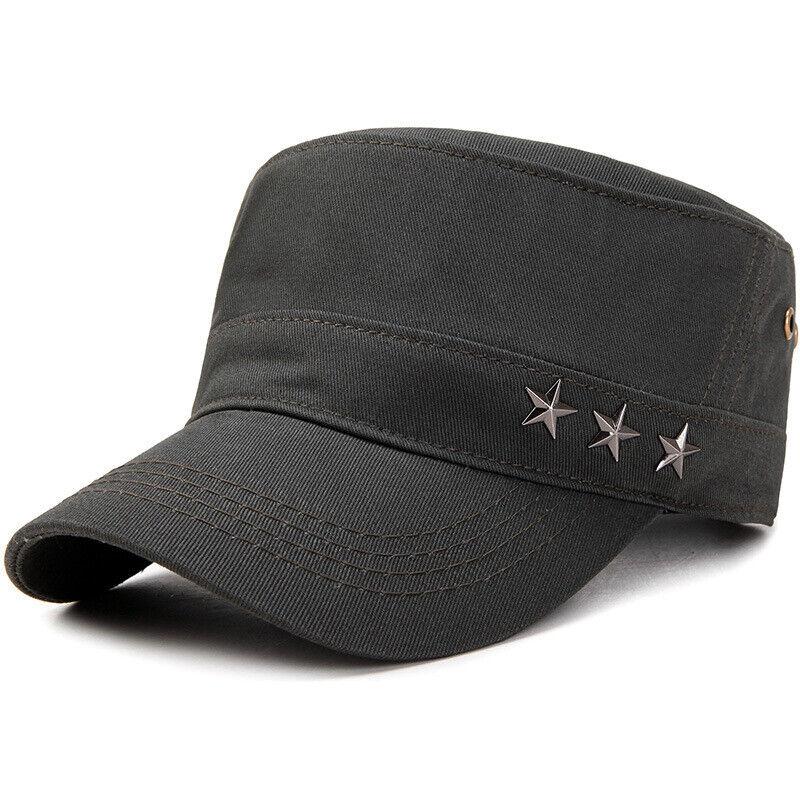 Classic Mens Women Army Military Cadet Combat Cap Sun Adjustable Sport Plain Hat 3
