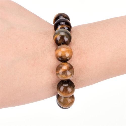 Natural Tiger Eye Stone Lucky bénir perles homme Bracelet Bijoux femme 4