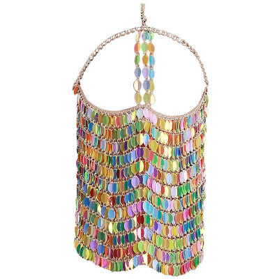 Fetish Colorful Leaves Belly Dance Face Mask BDSM Veil Mask Indian Head Chain 4