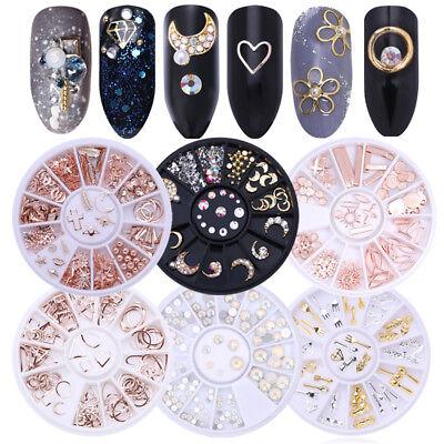 3D De uñas Arte Consejos Cristal Brillo Diamantes de imitación Decoración Rueda 2