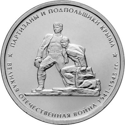 Set 5 Russian coins 5 ruble 2015 Liberation Crimea /& Sevastopol