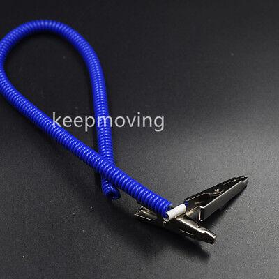 20 Pcs Dental Patient Bib Clips Chains Napkin Holder Flexible Coil Plastic 12