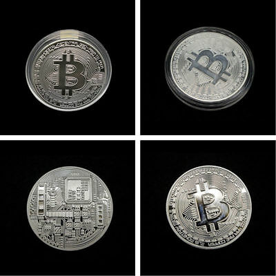 3PCS Bitcoin Commemorative Round Collectors Coin Bit Coin is Gold Plated Coins 5