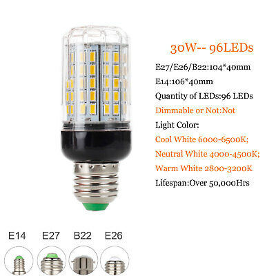 E27 E14 B22 LED Mais Birne 5730 SMD 9W 12W 15W 20W 25W 30W 35W Helle weiße Lampe 10