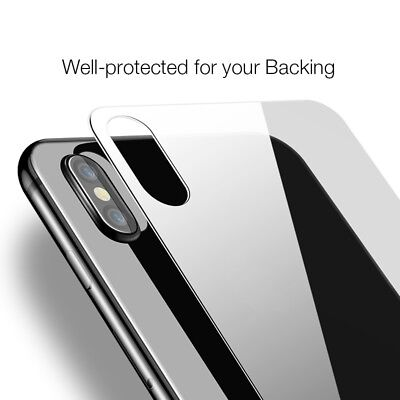 Back Rear Tempered Glass Screen Protector Apple iPhone X XS XS Max XR 7 8 Plus 6