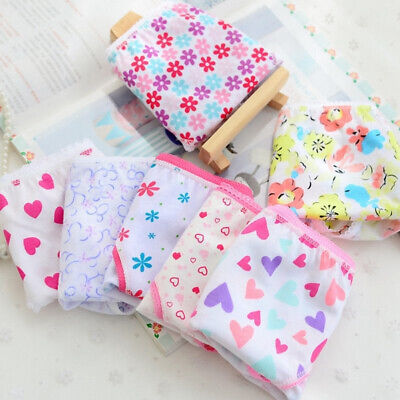 6pcs/Lot Baby Kids Girls Underpants Cotton Panties Child Underwear Short Briefs 6