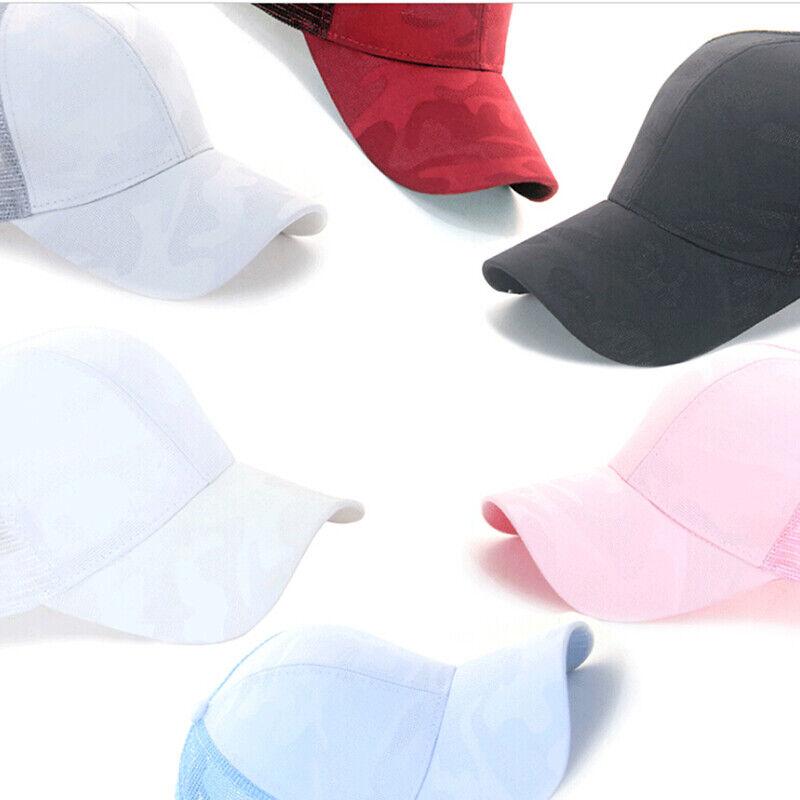 Women Pony Cap Messy High Bun Ponytail Adjustable Mesh Baseball Hat Cute Ne CP 4