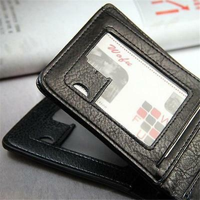 Mens PU Leather Wallet Large Coin Pocket Pouch Bifold Card Holder Purse Bag CS 5