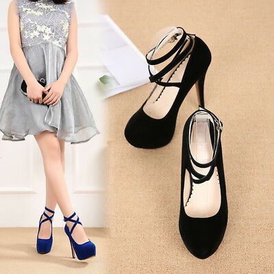 Strappy Heels Blue Queen Platform Crossdresser Men's Ankle Womens High Drag Shoe c43RqAjL5S