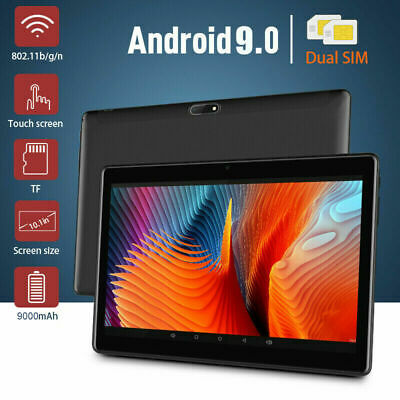 """10.1"""" WIFI/4G-LTE 8G+128G Tablet Android 9.0 HD PC bluetooth SIM GPS Dual Camera 5"""