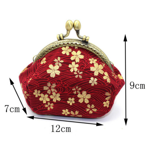 Collectable Handmade Japanese Style Fans Clasp Coin Purse Bag Change Wallets G 12