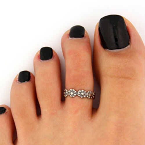 12PCs/set Adjustable Jewelry Retro Silver Open Toe Ring Finger Foot Rings New 6