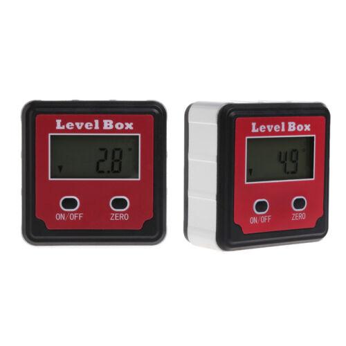Digital Inclinometer Spirit Level Box Protractor Angle Finder Gauge Bevel Meter 2