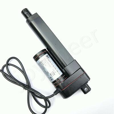 750-3000N Electric Linear Actuator Cylinder Lift Stroke 50-600mm DC12V 24V Black 6