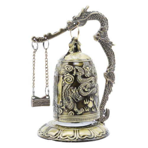 Gift Bronze Lock Home Decoration Retro Ornament Chinese Style Hit Dragon Bell 9