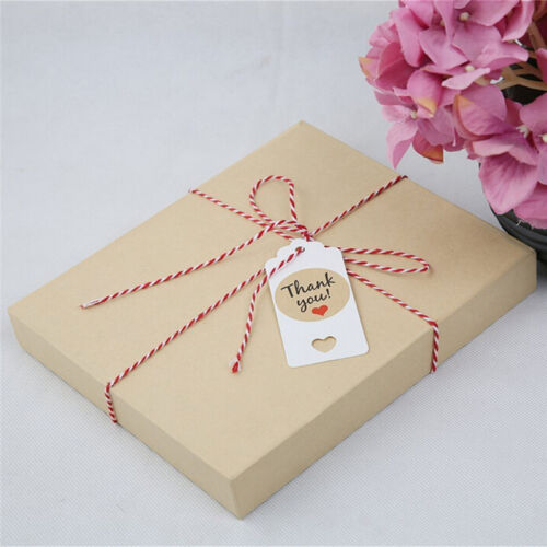 100pcs Blank Kraft Paper Hang Tags Wedding Party Favor Label Price Gift Card SS 11